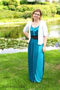 Gorgeous DIY Two-Tone Maxi Sundress from @Bev {Flamingo Toes}