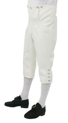 Wool knee Breeches CT588  Best quality 'Gentlemans' fall front knee breeches, three button fastening just below the knees, no pockets, available in plain wool colours.