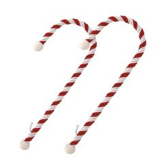 Haute Decor Candy Cane Stocking Holders (2012) Christmas Holiday Red White
