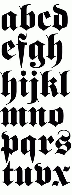 Like Judith Schalansky I love black letter fonts and Fette Fraktur is probably my fave. Even if Fette Fraktur is based on lettering from the middle ages it falls back into fashion every years, … Graffiti Alphabet, Graffiti Lettering Fonts, Tattoo Lettering Fonts, Creative Lettering, Font Tattoo, Font Alphabet, Calligraphy Letters, Typography Letters, Letter Fonts