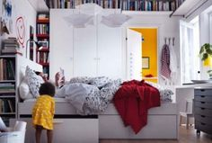 Single or Twins? Awesome Bedroom Styles for Teenage Girls: Divine Bedroom Styles For Teenage Girls Teens Rooms Ideas With Bookshelf Around The Walls White Painting Space Decorations ~ enferd.com Bedroom Inspiration