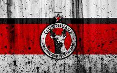 Download wallpapers 4k, FC Club Tijuana, grunge, Liga MX, soccer, art, Primera Division, football club, Mexico, Club Tijuana, stone texture, Club Tijuana FC