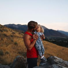 Daddy daughter in the mountains. @ameliahannah