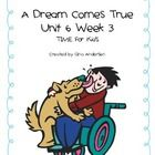 "This packet is a Fifth Grade Treasures Resources for ""A Dream Comes True."" These resources compliment 5th grade Treasures (Unit 6 Week 3) ""A Dream ..."