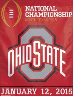 OHIO STATE 2015 NATIONAL CHAMPIONSHIP GAME BANNER