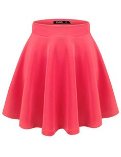 Thanth Womens Versatile Stretchy Pleated Flare Short Skater Skirt - http://darrenblogs.com/2015/12/thanth-womens-versatile-stretchy-pleated-flare-short-skater-skirt/