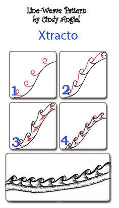 Creative Doodles: Xtracto by Paint Chip, Zentangle, Zendoodle ideas Zentangle Drawings, Doodles Zentangles, Zentangle Patterns, Doodle Drawings, Doodle Art, How To Zentangle, Zen Doodle Patterns, Zantangle Art, Zen Art