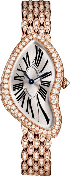 Crash watch 18K pink gold, diamonds