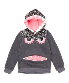 This Charcoal & Pink Monster Zip-Front Hoodie - Toddler & Girls is perfect! #zulilyfinds