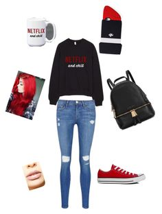 """netflix"" by tijona on Polyvore featuring Frame Denim, Converse, Michael Kors, LASplash, Valfré, women's clothing, women, female, woman and misses"