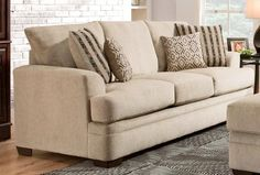 Calexico Sofa by Chelsea Home Furniture in Cornell Platinum 183653-1663-CP   Sofas & Sectionals
