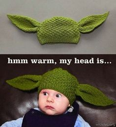 Can someone teach me how to knit this and then someone else have a baby so I can make this for them? Yoda head!