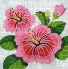 Hibiscus Floral Needlepoint - from Needlepoint, Etc. - Honolulu, Hi