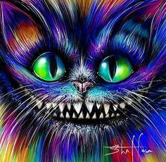 Cheshire Cat Art, Fractals, Halloween Face Makeup, Ocean, Rainbow, Cats, Photography, Pattern Wallpaper, Rain Bow