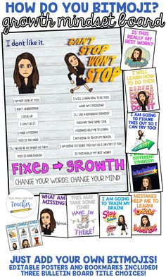 This Growth Mindset bulletin board is perfect for back to school or any time of the school year. You will get all of the letters and words needed to create the 4th Grade Classroom, Future Classroom, Classroom Themes, Classroom Organization, Classroom Management, Classroom Expectations, Classroom Posters, Class Management, School Fun