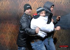 SCARE-BRO's cuddled tight, trying to stay safe...and cool inside Nightmares Fear Factory! www.NightmaresFearFactory.com