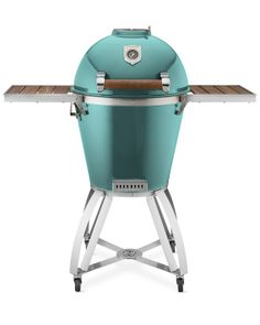 Wowza ~ only about $2500!!! Caliber Thermashell Charcoal Grill with Cart, Turquoise