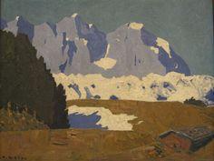 Alfons Walde (Austrian, 1891-1958), Bergfrühling (Wilder Kaiser), c. 1920. Oil on cardboard, 78.5 x 100 cm