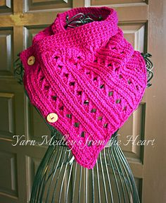 Ravelry: Dancing Ribbons Buttoned Cowl pattern by Yarn Medley's from the Heart