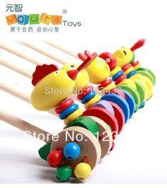 Yours bébé main de bois Push et Pull animaux avec deux Jingle roues pour bébé enfants enfants poussette jouet sport, Avec poignée dans Jouets de sport de Jouets & loisirs sur AliExpress.com | Alibaba Group