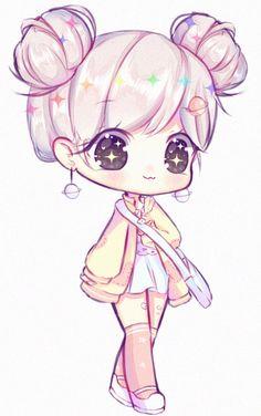 Art trade with dasuri Hope you like it! I really had fun drawing your oc! Their super cute part : Chibi discount. [AT] dasuri Kawaii Anime Girl, Cute Anime Chibi, Kawaii Chibi, Anime Art Girl, Cute Kawaii Girl, Chibi Girl Drawings, Anime Drawings Sketches, Cute Drawings, Chibi Drawing