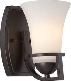 Nevel - 1 Light Vanity Fixture w/ Satin White Glass