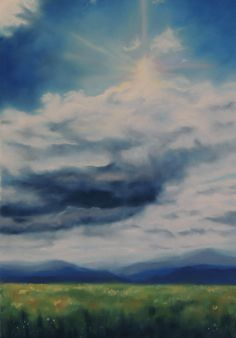 art by Elise Okrend. www.eliseokrend.com #Max Patch #mountain landscapes #art #peace #pastel. $1600.