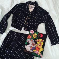 Mini Wrap, Silk Slip, Skirt Suit, Skirt Fashion, Versace, Polka Dots, Wraps, Bell Sleeve Top, Vintage Fashion