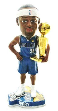 DALLAS MAVERICKS #31 JASON TERRY NBA OFFICIAL 2011 CHAMPIONSHIP TROPHY BOBBLEHEAD BOBBLE