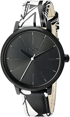 Nixon Women's A1082218-00 Kensington Leather Analog Display Japanese Quartz Multi-Color Watch >>> You can get additional details at the image link.