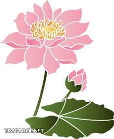 Водяная лилия (трафарет для покраски)