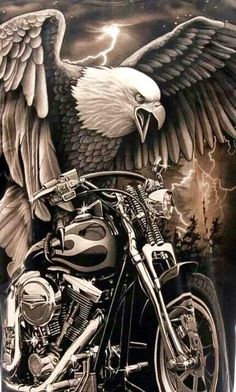 Eagle and a Harley