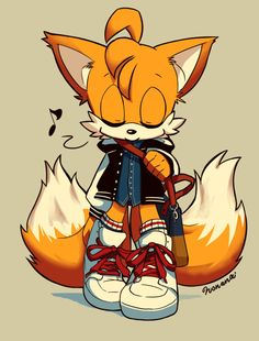 I think Tails looks great in normal attire.