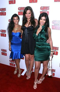 Well, let's just rewind to 2008 shall we. A glorious time for co-ordinating spray tans and satin dresses. | Just A Reminder That The Kardashians Used To Dress Like This