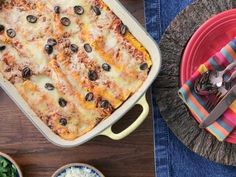 """Chicken Enchiladas (Valerie Cooks So-Cal Style) - Valerie Bertinelli, """"Valerie's Home Cooking"""" on the Food Network."""