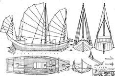 Junk Sailboat How To DIY Download PDF Blueprint UK US CA Australia ...