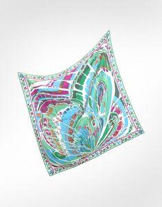 Emilio Pucci Wing - Silk Square Scarf. diaspora print