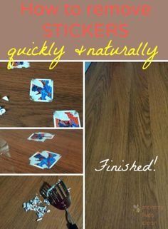 Quick and easy method to remove stickers off furniture naturally!  #cleaningtips #lifehacks