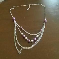 Necklace Purple & silver accent necklace paparazzi Jewelry Necklaces