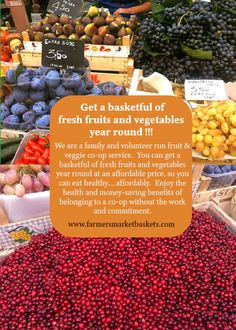 The healthy and affordable fruit basket www.farmersmarketbaskets.com