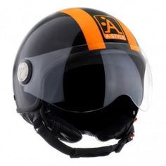 casque a-style scooter moto été fashion branché orange fluo