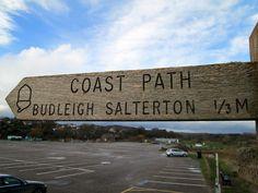 Budleigh Salterton Coast Path Finger Post