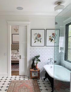 Home Interior Salas Monday Inspiration: How We React Emotionally To Colour.Home Interior Salas Monday Inspiration: How We React Emotionally To Colour Bathroom Renos, Laundry In Bathroom, Bathroom Ideas, Bathroom Designs, White Bathroom, Bathroom Wall, Clawfoot Tub Bathroom, Bathroom Organization, Parisian Bathroom