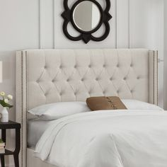 Found it at Wayfair - Grammont Tufted Upholstered Wingback Headboard