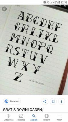 Bullet Journal Writing, Bullet Journal Inspiration, Bellet Journal, Pretty Writing, Writing Fonts, Chalkboard Lettering, Hand Lettering Tutorial, Letter I, Brush Lettering