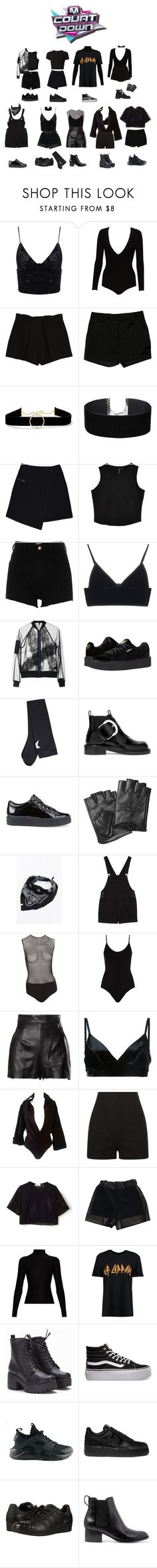 """""""BANGBANG """"The 7th Sense"""" — MCountdown"""" by bbofficial ❤ liked on Polyvore featuring Alice + Olivia, Chloé, Rachel Zoe, Anissa Kermiche, Miss Selfridge, MARC CAIN, River Island, T By Alexander Wang, Topshop and Puma"""