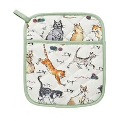 Under licence from Madeleine Floyd, this Cats pot mitt details cat illustrations with a contrast trim. This useful kitchen item contains a poly wadding filling