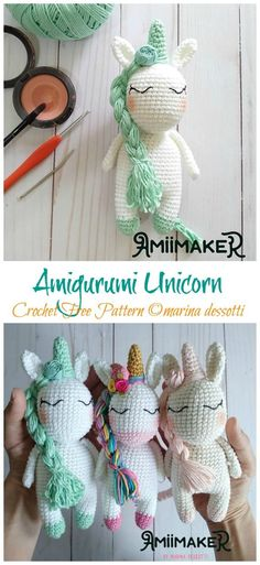 Crochet Pattern Free, Crochet Animal Patterns, Stuffed Animal Patterns, Crochet Patterns Amigurumi, Cute Crochet, Crochet Crafts, Crochet Projects, Knit Crochet, Knitting Patterns
