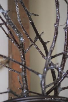 5 Easy Decorating Tips including DIY Glitter Twigs with Mod Podge