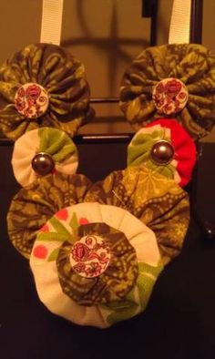 handmade fabric yoyo necklace